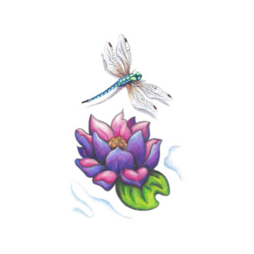 Hookup Temporary Tattoo Transfers Lotus Flower Color Alcone Company